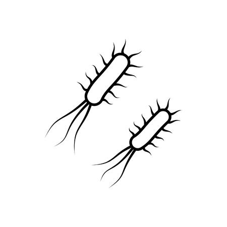lepra: Bacterias y gérmenes icono de estilo de línea delgada Vectores