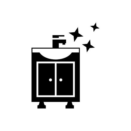 pedestal sink: Sink icon. Vector illustration Illustration