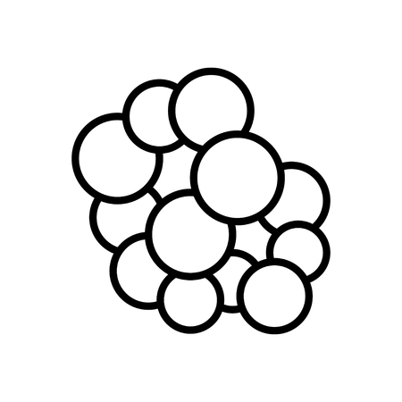 leprosy: Bacteria and germs  icon in thin line style Illustration