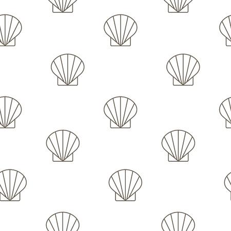 shellfish: Shellfish seamless pattern.