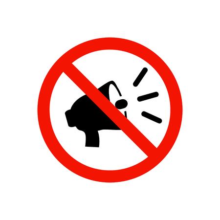 anti noise: Prohibiting sign.