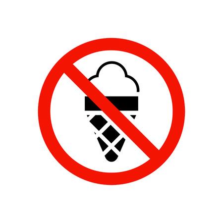 single entry: No ice cream prohibiting sign.