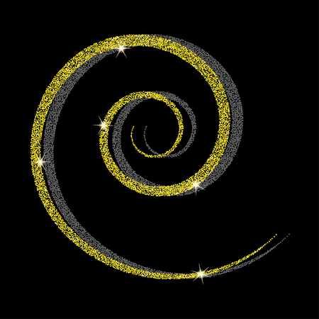 psychic: Golden spiral background.