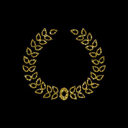 triumphant: Golden wreath. Vector illustration.