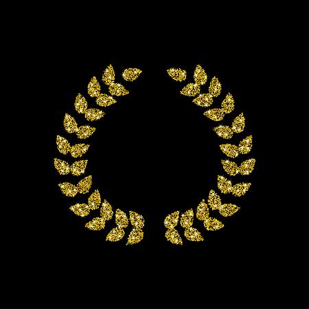triumphant: Golden wreath illustration.