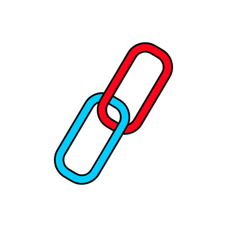 chain link: Chain,link icon illustration Illustration