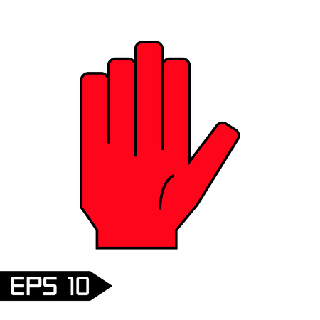 slowdown: Stop hand icon.Vector symbol. Illustration