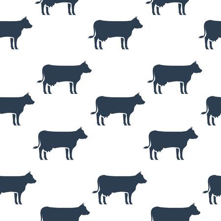 herd: Cows seamless pattern.Vector illustration
