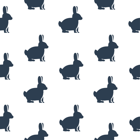 yong: Seamless texture with rabbits. Vector illustration.