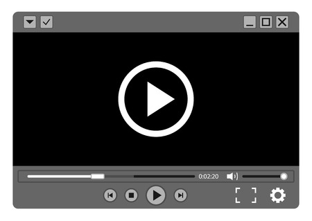 Video player.Vector illustration.