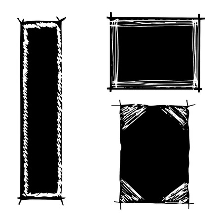 grunge borders: Grunge borders with place for your text.