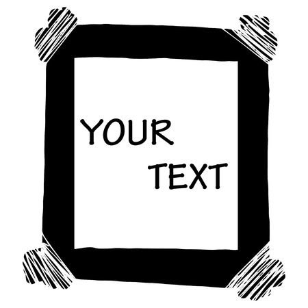 place for your text: Grunge borders with place for your text.