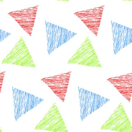 Seamless geometric pattern. Hand drawn. Vector illustration