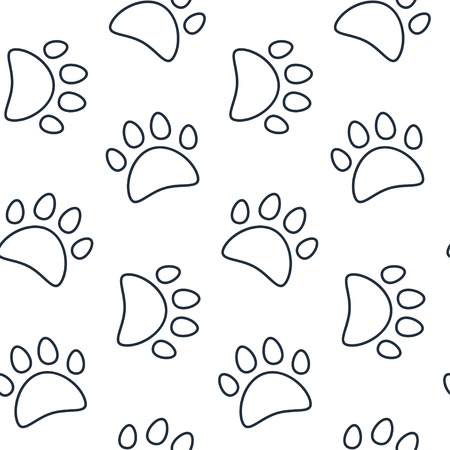 animal frames: Animal seamless vector pattern of paw footprint.