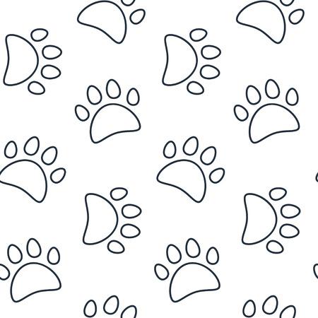 huella pie: Modelo animal inconsútil del vector de la huella de la pata.
