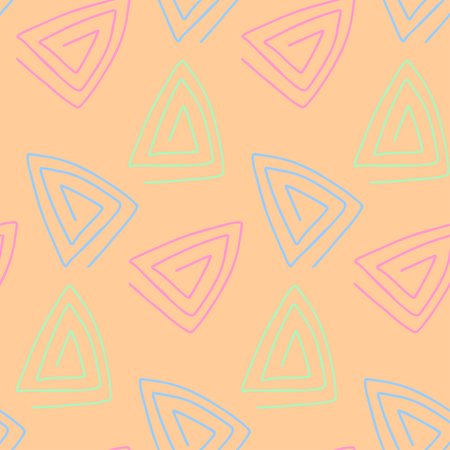 Seamless pattern in pastel tones. Hand drawn. Vector illustration.