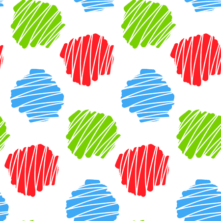 Seamless pattern with abstract element. Hand drawn. Vector illustration. 版權商用圖片 - 54440237