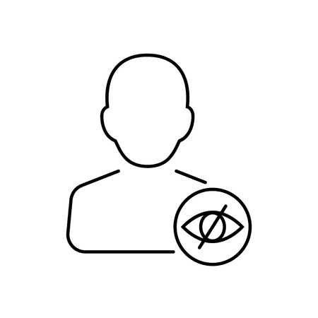 impaired: Disabled icon in thin line style. Vector illustration. Vector symbol.