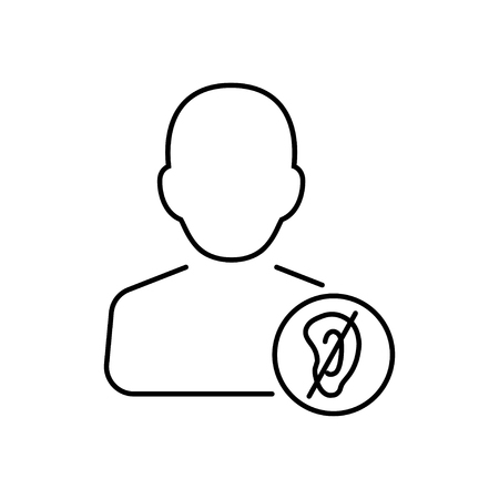 assistive: Disabled icon in thin line style. Vector illustration. Vector symbol.