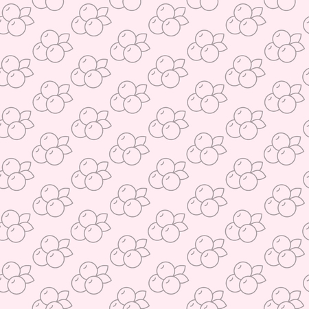 Seamless pattern with blueberry in line style. Vector illustration.