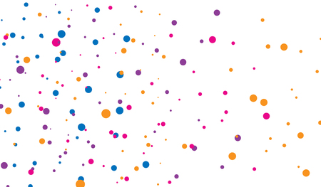 Background of splash dot, chaotic circles. Vector illustration
