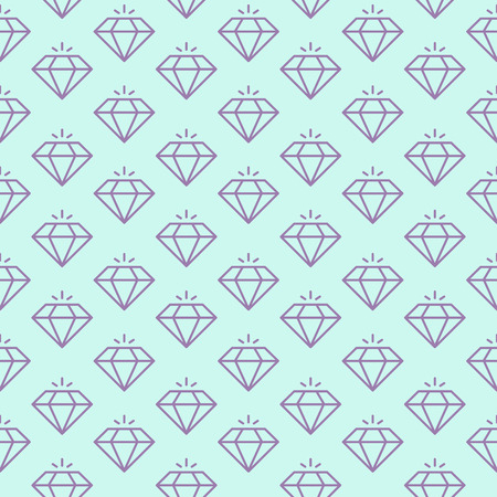 Vector seamless pattern with shiny diamonds.