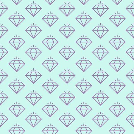 Vector seamless pattern with shiny diamonds. Reklamní fotografie - 104400296