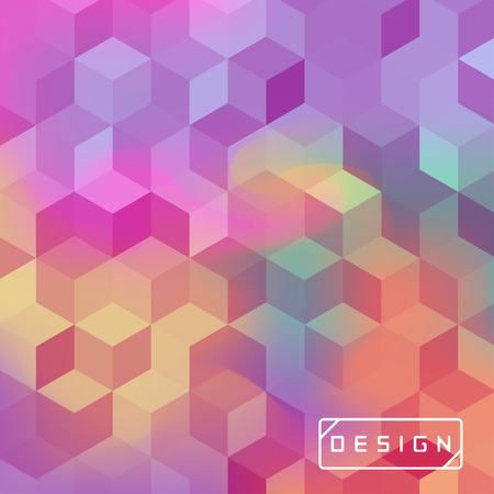 Vector bright geometric background. Design illustration with cuboid shape elements for banners, posters, ads, wallpapers and covers.