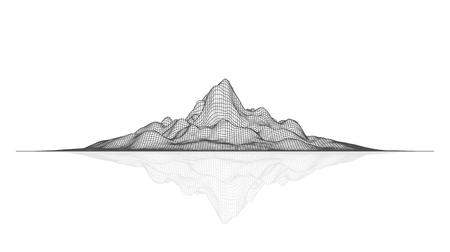 Paysage de maillage vectoriel abstrait. Arrière-plan de visualisation de données Vecteurs