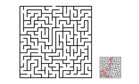 Vector illustration of maze labyrinth in flat style. 일러스트