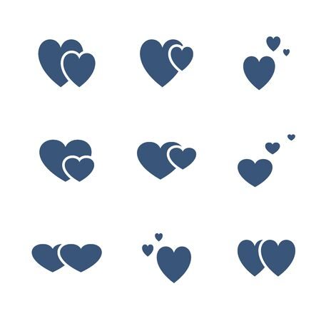 Vector icon set of valentines day. Love sign.