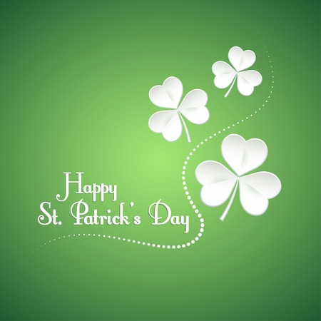 shamrock background: Happy St. Patrick