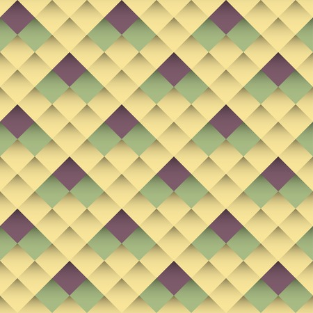 Seamless pattern of rhombuses. Retro style. Vector Vector