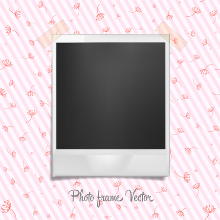feature film: Photo frame on wallpaper. Template with shadow effect. Vector illustration Illustration