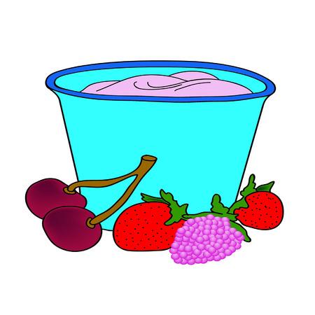 raspberry pink: Delicious yogurt of the ripe berries