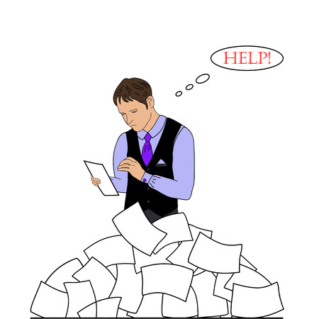 workload: businessman need help Stock Photo