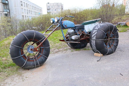 Homemade three-wheeled all-terrain vehicle Reklamní fotografie