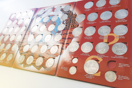 collection set of rare coins of the Soviet Union 版權商用圖片 - 105946863