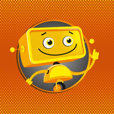 funny robot: Funny yellow robot