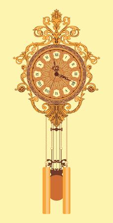 Retro chiming wall clock.