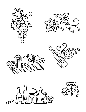spirituous: Simple Set of Wine Icons
