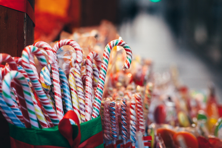 Collection of colorful candies at the market Stock Photo