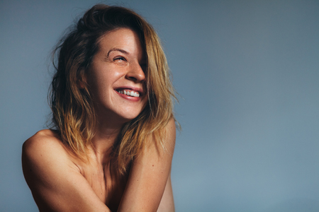 Portrait of beautiful young woman smiling Archivio Fotografico