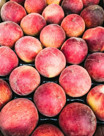 Close-up of peaches in the market