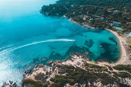 Aerial view of the coastline in Halkidiki, Greece Zdjęcie Seryjne
