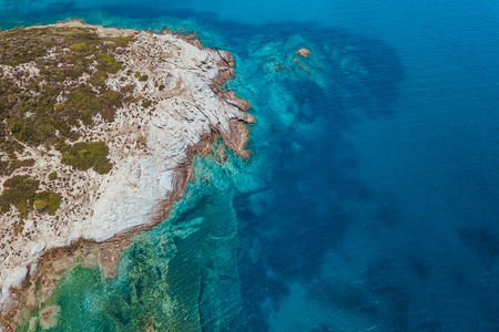 Aerial view of the seascape in Greece Zdjęcie Seryjne