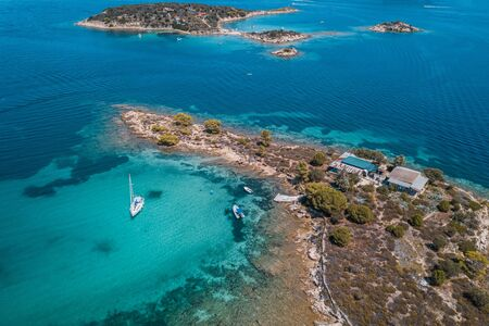 Aerial view of the tropical lagoon in Aegean sea Reklamní fotografie