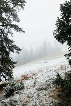 View of the ski slope off season