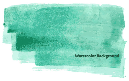 celadon: Watercolor turquoise background.Illustration from set