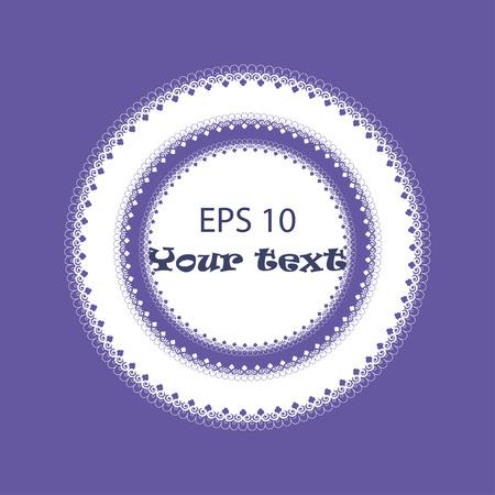 servilleta de papel: Indigo adorno o servilleta circular. Ilustración vectorial para tarjetas de felicitación, invitaciones, y otros proyectos de impresión y web.